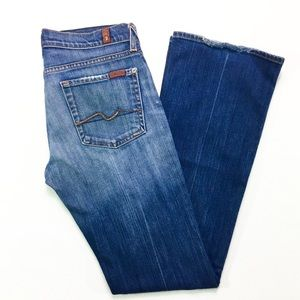 7 For All Mankind Low Rise Boot Cut Denim Jeans